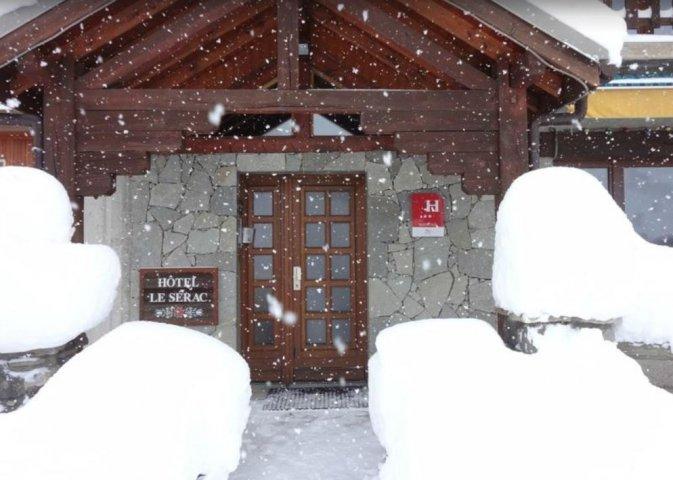 L'entrée sous la neige