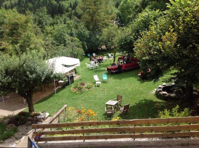 Restaurant jardin du Lauvitel Lodge