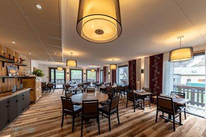 La salle de restaurant récemment rénovée – Hôtel le Faranchin à Villar d'arène